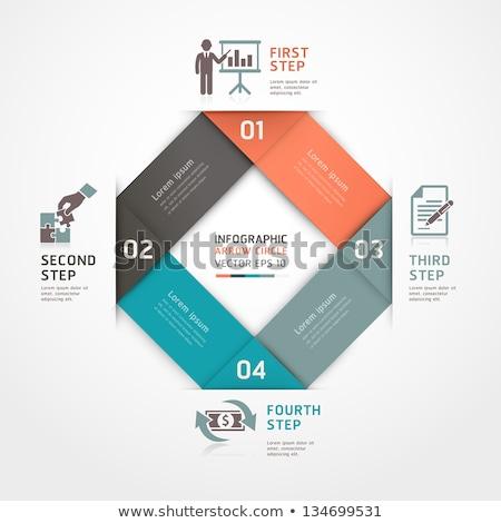 üzlet · infografika · origami · stílus · toll · 3D - stock fotó © rwgusev