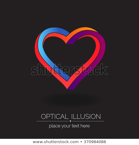 Interlaced heart. Stock photo © Fisher