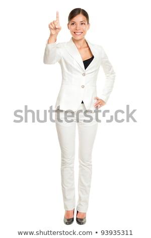 Empresária invisível virtual tela branco Foto stock © wavebreak_media