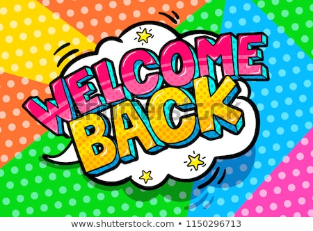 illustrations of Welcome Back to School lettering  Stock photo © Sonya_illustrations