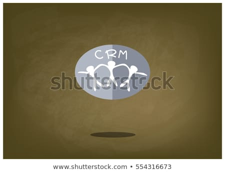 CRM - Cartoon Green Word. Business Concept. Stock photo © tashatuvango