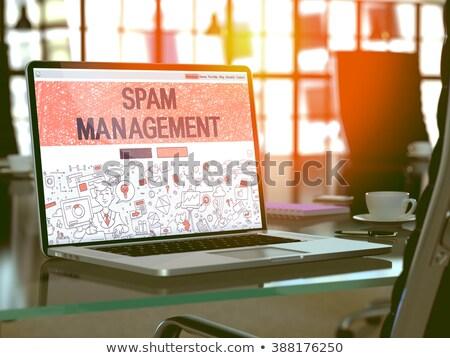 spam · e-mail · filtre · 3D · yalıtılmış · beyaz - stok fotoğraf © tashatuvango