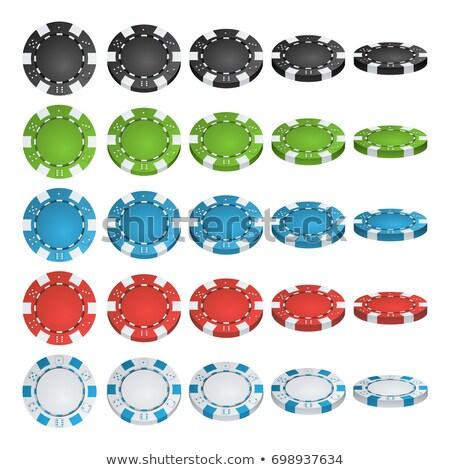 Conjunto diferente fichas 3D jogo ícones Foto stock © kup1984