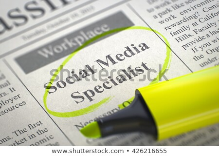 Job Opening Media Relations Specialist. 3D. Stock photo © tashatuvango