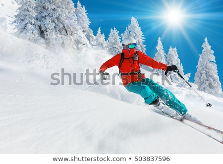 Man skiing on mountain Stock photo © IS2