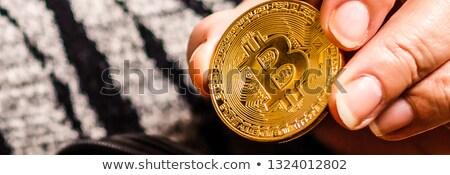Nő tart érmék papír pénztárca Sydney Stock fotó © lovleah