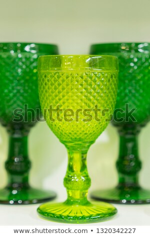 Wine glasses and food on wooden shelves Stock photo © bluering