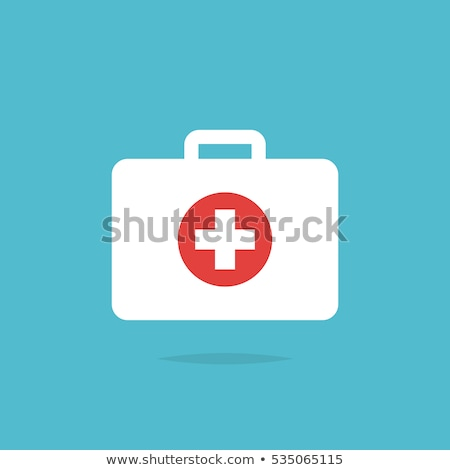 First aid kit vector cartoon illustration. Stock photo © RAStudio