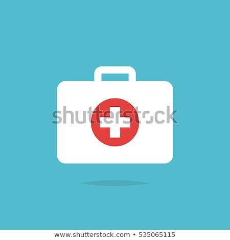 первая · помощь · красный · иллюстрация · белый · крест - Сток-фото © rastudio