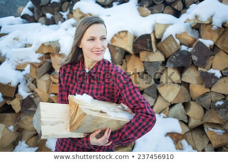 Nő tapsolás fa kint férfi természet Stock fotó © IS2
