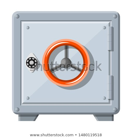 Metallic safe box with money posters stock photo © studioworkstock