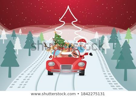 santa in car Stock photo © get4net