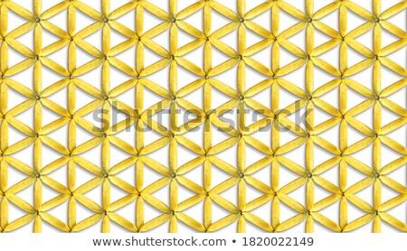 Banana 3D background. Yellow tropical fruit seamless pattern. Fr Stock photo © popaukropa