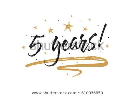 Birthday 5 Years Card With White Background- Stock photo © adamson