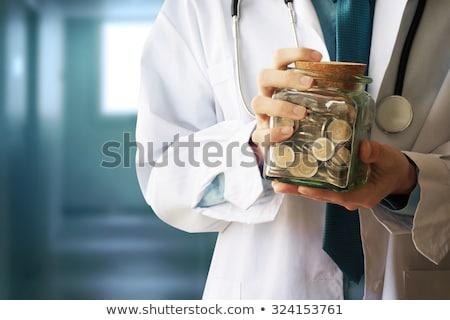 Foto stock: Médico · dinero · establecer · hombre · compras