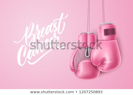 boxing woman for breast cancer awareness on white background stock photo © wavebreak_media