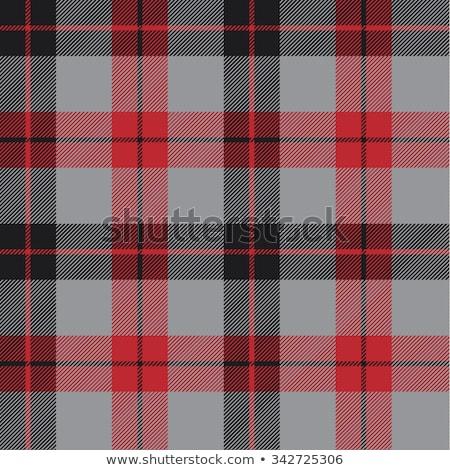 черный красный вектора ткань Шотландии Сток-фото © sanjanovakovic