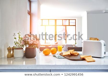 Arrangement bread and sweet honey Stock photo © dash