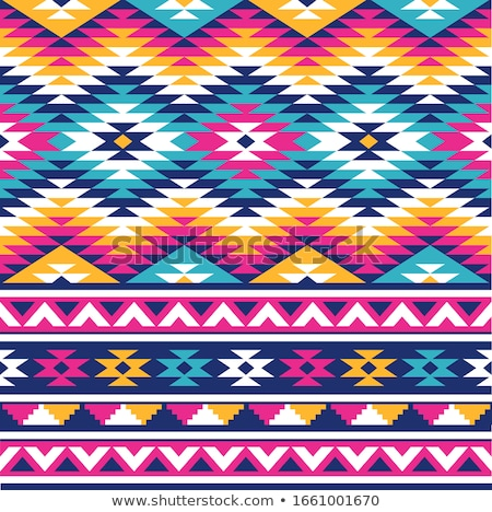 Colored Seamless Pattern with Ethnic Motifs Stock photo © lissantee