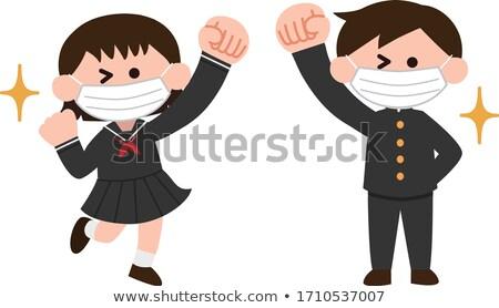 uczennica · charakter · ilustracja · dziewczyna · uśmiech · dzieci - zdjęcia stock © toyotoyo