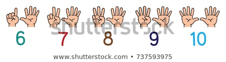 Counting numbers with little kids Stock photo © colematt