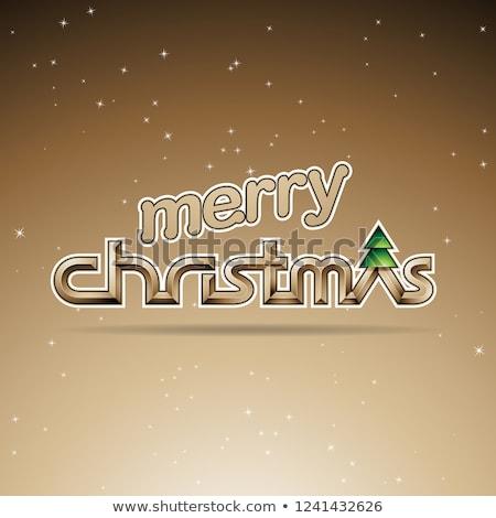 Szépia fényes vidám karácsony szöveg terv Stock fotó © cidepix