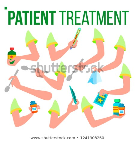 Patient traitement main pilules Photo stock © pikepicture