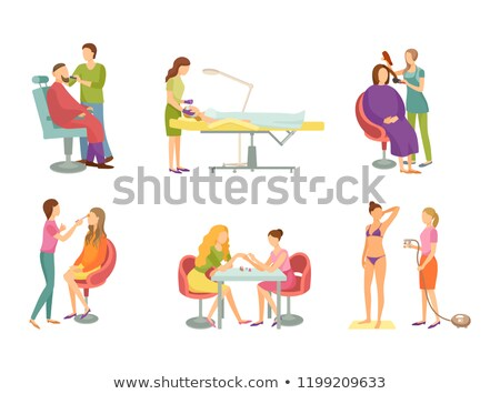 Cosmetician Hairdresser Cosmetic Procedures Vector Stock photo © robuart