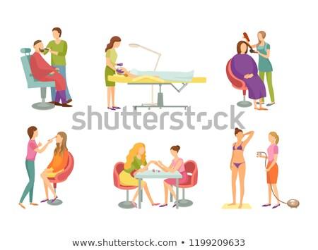 Peluquero cosméticos vector pelo salón web Foto stock © robuart