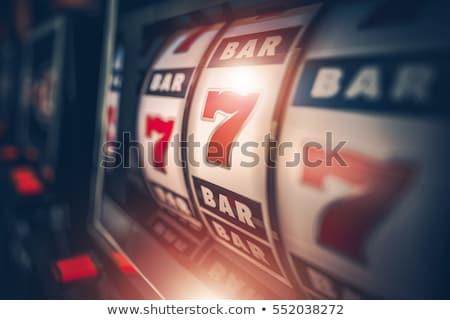 Bandita játékautomata pop art retro klasszikus giccs Stock fotó © studiostoks