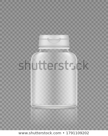 Transparent médicaux contenant vecteur jar vitamine Photo stock © pikepicture