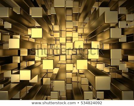 3D abstract ontwerp kubus dozen 3d render Stockfoto © ribah