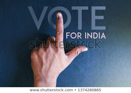 Indian people Hand with voting sign showing general election of India Stock photo © vectomart
