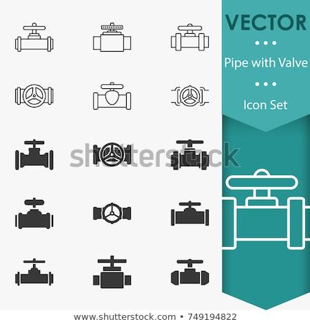 Tubo válvula ícone cor projeto água Foto stock © angelp