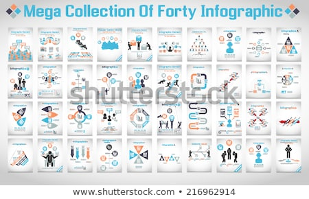 Business Infographic icons pattern Stock photo © netkov1