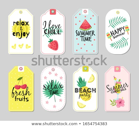 Set of Summer Promo Posters with Exotic Fruits Foto stock © robuart