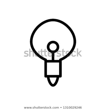 light bulb line icon vector isolated on white background idea sign solution thinking concept li stock photo © kyryloff