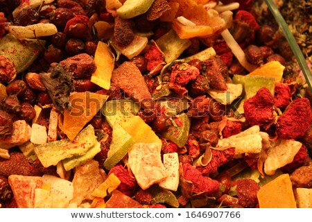 Detail of the turkish relax tea ingrediants Stock photo © boggy