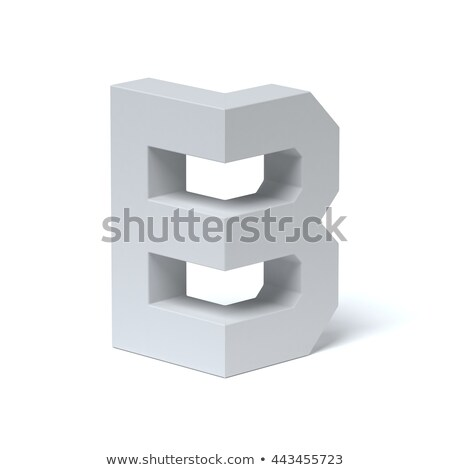 Blue extruded font Letter B 3D Stock photo © djmilic