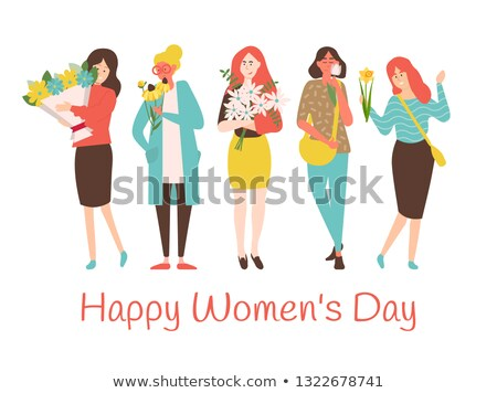 女性 · 着用 · ブラウス · スカート · スタイル - ストックフォト © robuart