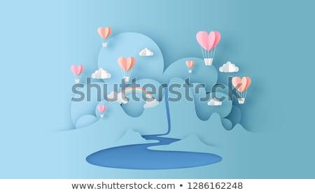 горные · бумаги · пейзаж · сердце · Валентин · день - Сток-фото © rwgusev