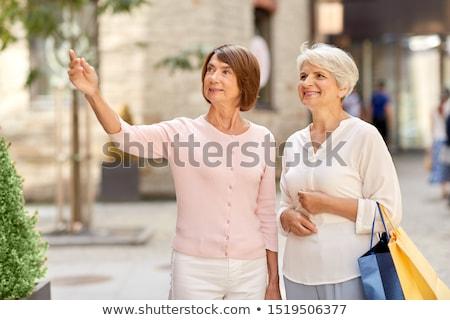 счастливым старший женщину городской улице лет старость Сток-фото © dolgachov