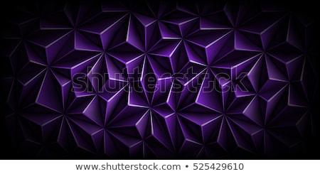 Diep Blauw 3D veelhoek meetkundig trillend Stockfoto © jeff_hobrath