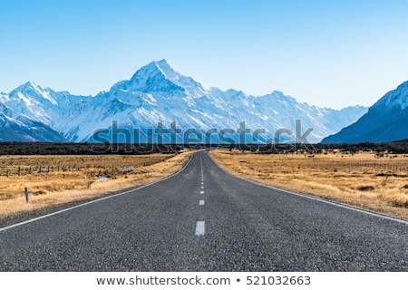 Snowy Landscape With Mountains At Background Stock photo © AndreyPopov