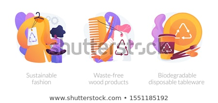 Eco friendly reusable tableware vector concept metaphor. Stock photo © RAStudio