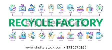 Reciclar fábrica ecología mínimo infografía banner Foto stock © pikepicture