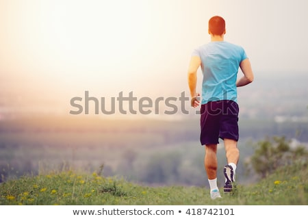 Jogger Exercising in Park Healthy Lifestyle of Man Stock photo © robuart