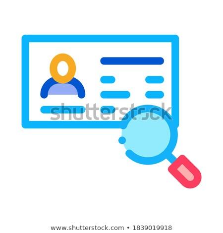 Paspoort onderzoek icon vector schets illustratie Stockfoto © pikepicture