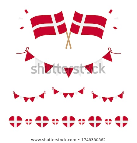 National flag of the Denmark in the shape of a heart and the inscription I love Denmark. Vector illu Stock photo © butenkow