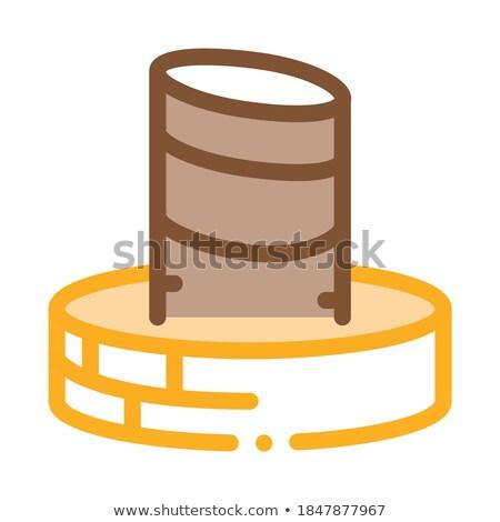 Heiligdom icon vector schets illustratie teken Stockfoto © pikepicture